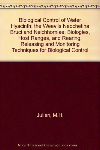 9781863202671: Biological Control of Water Hyacinth: the Weevils Neochetina Bruci and Neichhorniae: Biologies, Host Ranges, and Rearing, Releasing and Monitoring Techniques for Biological Control
