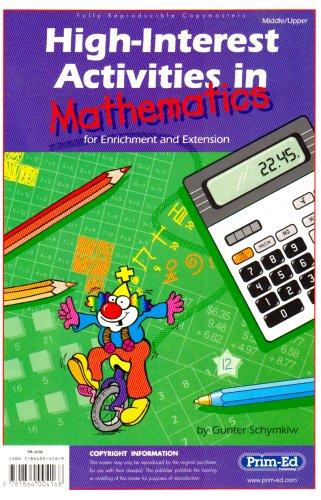 High Interest Activities: Mathematics: Schymkiw, Gunter