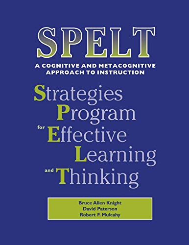 9781864017229: SPELT: A Cognitive and Metacognitive Approach