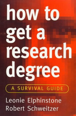 9781864485608: How to Get a Research Degree: A Survival Guide (Allen & Unwin Study Skills)