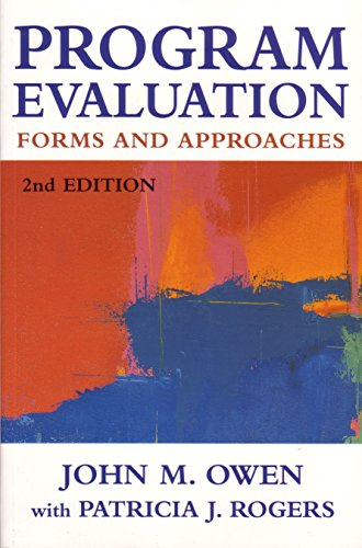 Program Evaluation Forms And Approaches  Abebooks