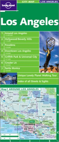 9781864502589: Lonely Planet Los Angeles City Map (Maps & Atlases)