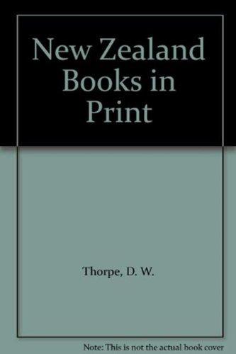 New Zealand Books in Print: Thorpe, D. W.