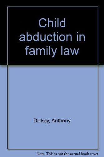 9781864680706: Child abduction in family law