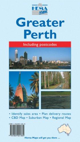 Perth Greater 1:80K Hema Map (Australian City Maps): Hema Maps Pty.Ltd