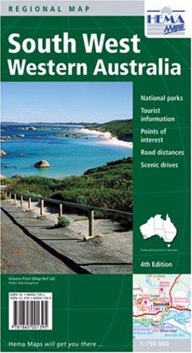 Western Australia, South West (Regional Maps of Australia): Hema