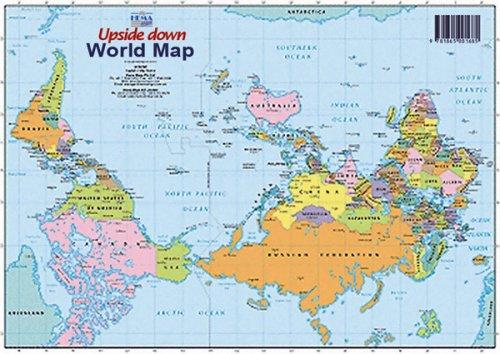 9781865001685: World Upside Down A4 Map
