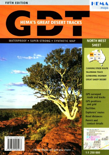 9781865005478: Great Desert Tracks Australia North West Sheet