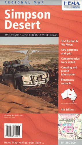Simpson Desert 1 : 250 000: Hema Maps