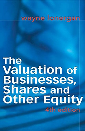9781865089706: The Valuation of Businesses, Shares and Other Equity (Food, Family & Friends Cookbook)