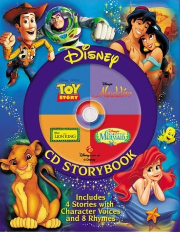 Disney CD The Lion King, the Little Mermaid, Toy Story, Aladdin: Disney Cd Storybook (4-in-1 Disney...