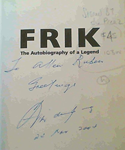 9781868062171: Frik: The Autobiography of a Legend