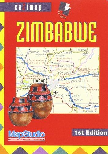 """""""zimbabwe ; 1/1,87m ; eazimap"""" (9781868093878) by MapStudio"""