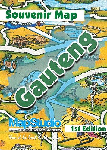 9781868094981: Gauteng Souvenir Map