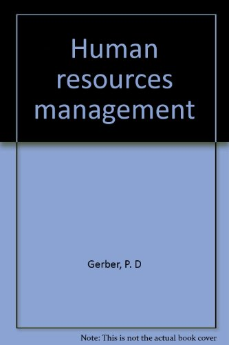 Human Resources Management: Gerber, P. D.;Nel,