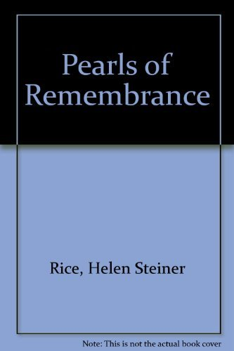 9781868522323: Pearls of Remembrance [Hardcover] by Rice, Helen Steiner