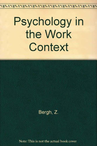 9781868640683: Psychology in the Work Context