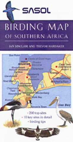 9781868724239: Sasol Birding Map of Southern Africa
