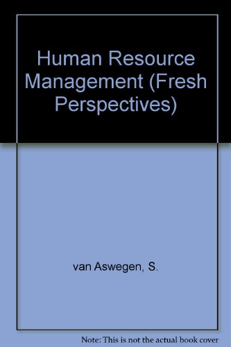 9781868914173: Human Resource Management (Fresh Perspectives)