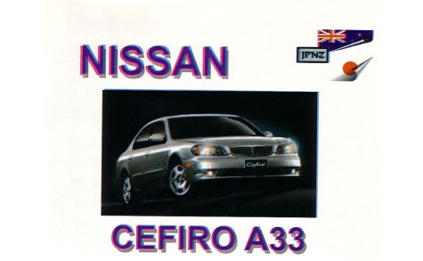 9781869760984: Nissan Cefiro A33 1998 - Owners Manual