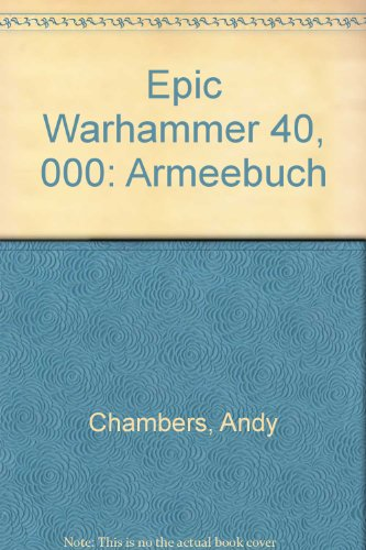 9781869893774: Epic Warhammer 40, 000: Armeebuch (German Edition)
