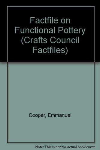 9781870145411: Factfile on Functional Pottery (Crafts Council Factfiles)