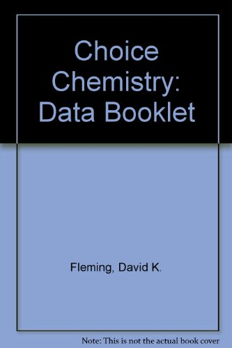 9781870218108: Choice Chemistry: Data Booklet