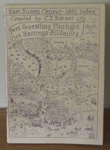East Sussex Census - 1851 Index: Vol 3: Pett, Guestling, Fairlight, Ore, Hastings-All Saints (HO1...