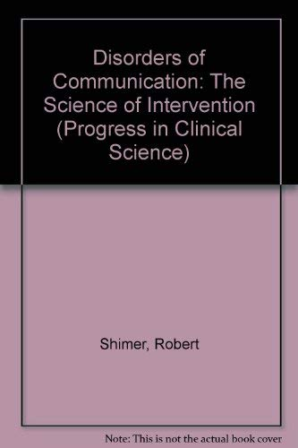 Disorders of Communication: The Science of Intervention: Leahy, Margaret M.