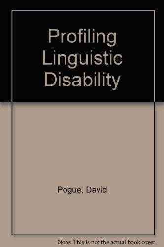 9781870332750: Profiling Linguistic Disability