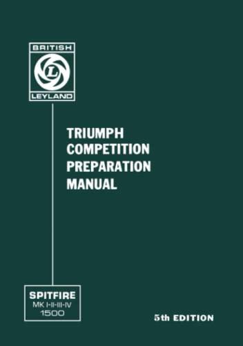 9781870642606: TRIUMPH SPITFIRE COMPETITION PREPARATION MANUAL