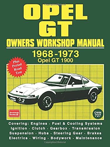 9781870642866: Opel Gt Owners Workshop Manual 1968-1973: Workshop Manual