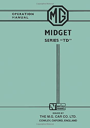 MG Midget TD Owner Hndbk: Brooklands Books Ltd