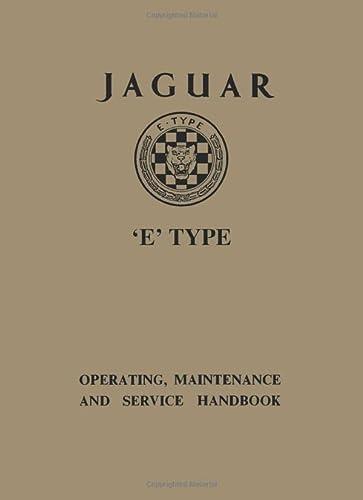 Jaguar E Type 3.8 Ser 1 Handbook (Official Owners' Handbooks): Brooklands Books Ltd