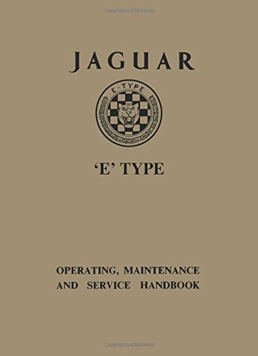 Jaguar E Type 3.8 Ser 1 Handbook (Official Owners' Handbooks) (1870642929) by Brooklands Books Ltd