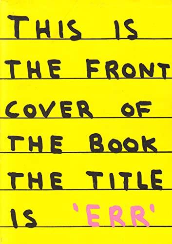9781870699228: Err (New Writing)