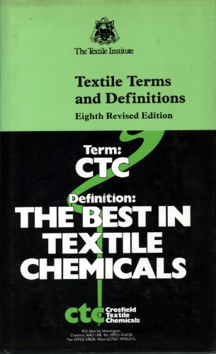Textile Terms & Definitions: Carolyn A. Farnfield