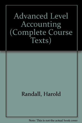 9781870941365: Advanced Level Accounting (Complete Course Texts)