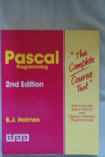 9781870941655: PASCAL Programming (Complete Course Texts)