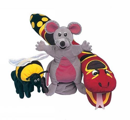 9781870946209: Jolly Phonics Puppets: Set of 3 Inky, Snake, Bee