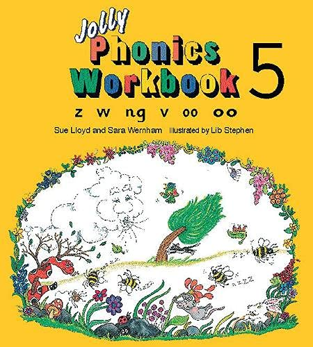 9781870946551: Jolly Phonics Workbook 5: in Precursive Letters (BE): Z, W, Ng, V, Oo