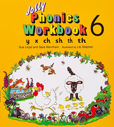 9781870946568: Jolly Phonics Workbook 6: in Precursive Letters (BE): Y, X, Ch, Sh, Th