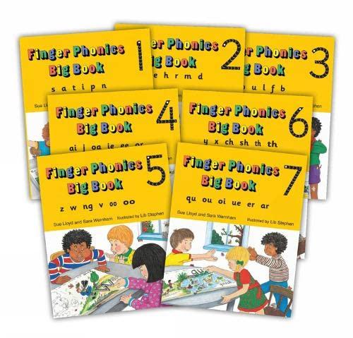 9781870946940: Finger Phonic Big Books: In Percursive Letters (Jolly Phonics) Set 1-7 (Books 1-7)
