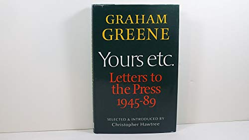 9781871061222: Yours etc.: Letters to the Press, 1945-89