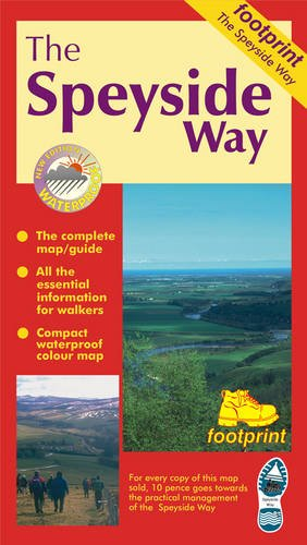 9781871149722 The Speyside Way Footprint Map Strip Map Of The