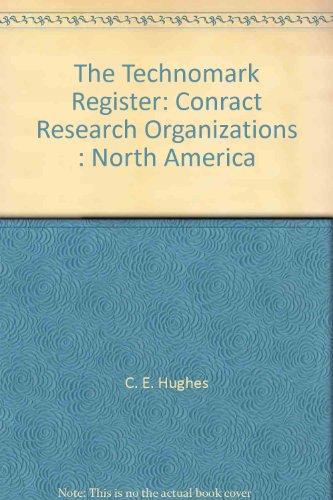 9781871272079: The Technomark Register: Conract Research Organizations : North America