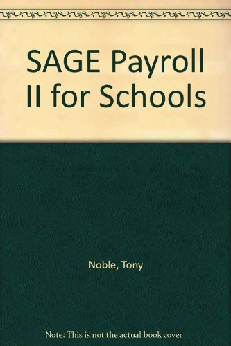 9781871468052: SAGE Payroll II for Schools
