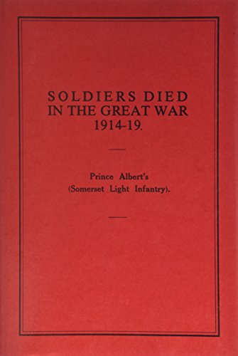 Soldiers Died in the Great War, 1914-19: Anon