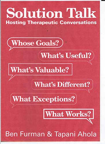 9781871697780: Solution Talk: Hosting Therapeutic Conversations