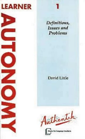 9781871730029: Learner Autonomy: Definitions, Issues and Problems v. 1